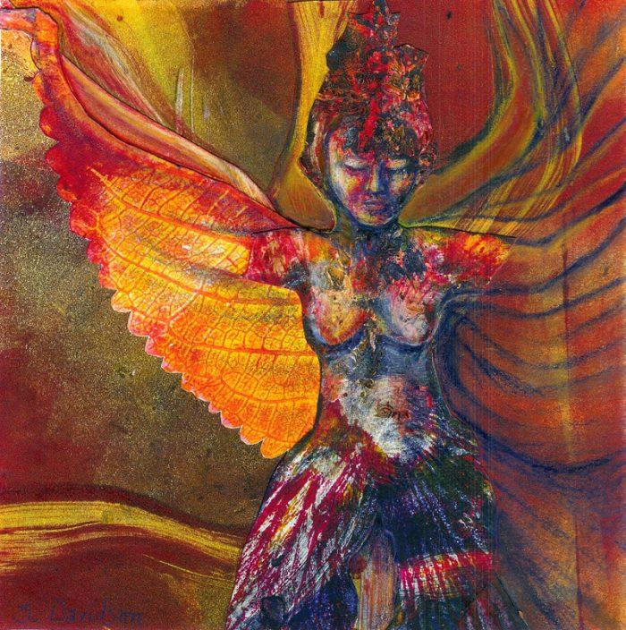 transformation 1 monoprint collage goddess sharmon davidson