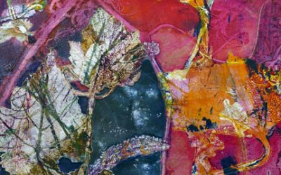 Recycled Monoprint Collage: Passage Between II