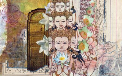 New Small Collage: Avalokiteshvara in Bloom