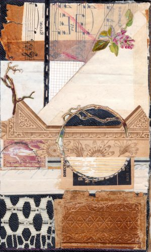 antique ephemera collage persistence mixed media sharmon davidson