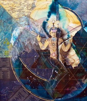 mystical collage painting dimensional shift sharmon davidson