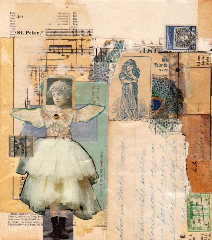 antique paper collage you never know sharmon davidson