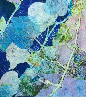 nature inspired print day into night monotype with mixed media sharmon davidson