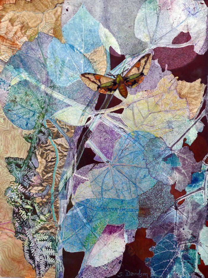 monotype collage painting analogy III mixed media sharmon davidson