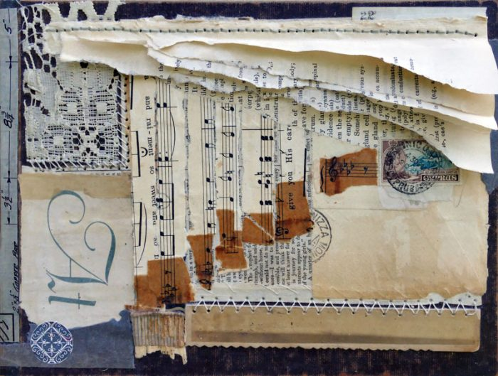 paper ephemera artwork rhythm of the rain sharmon davidson