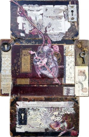 heart symbolism matters of the heart mixed media collage sharmon davidson