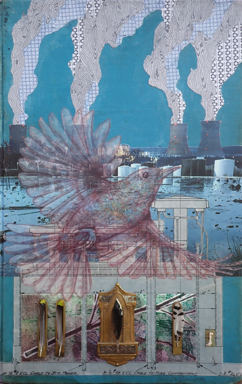 protest art reliquary mixed media collage sharmon davidson