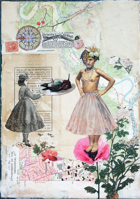 protest art the end of innocence mixed media collage sharmon davidson