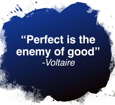 art and perfectionism voltaire quote
