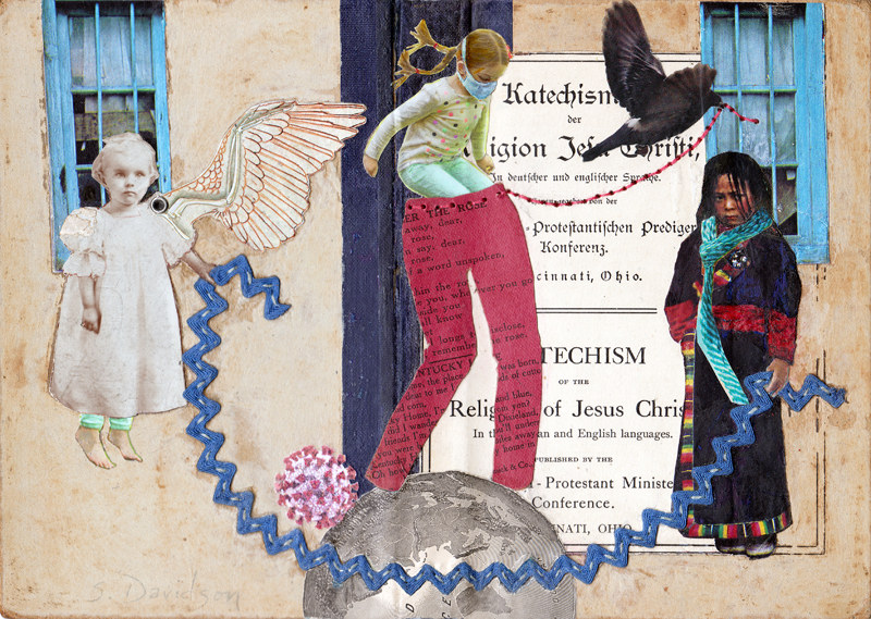 art and perfectionism time to put on your big girl pants mixed media collage sharmon davidson