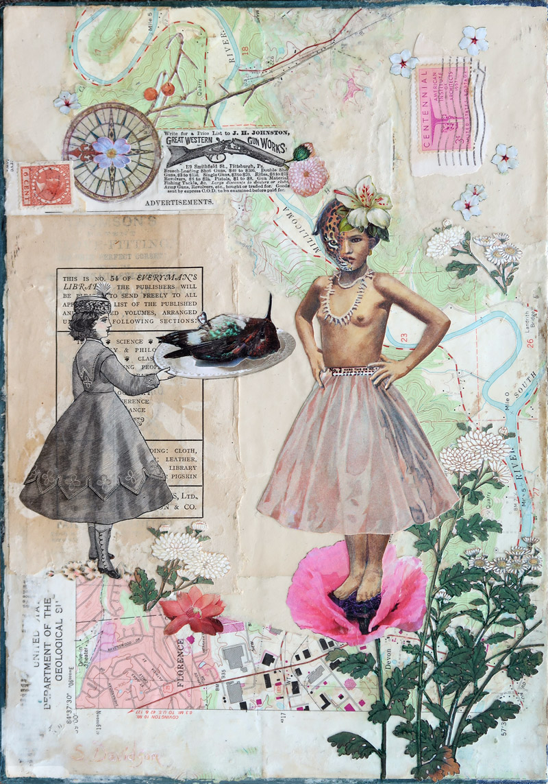 protest art the end of innocence 2 mixed media collage sharmon davidson