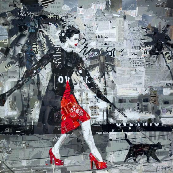 collage artists derek gores turn on the catwalk