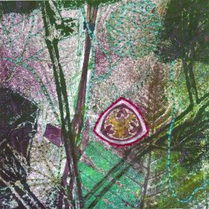 small botanical monoprint seed sigil II product image sharmon davidson