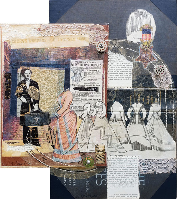 purpose of art mary walker's pants mixed media collage sharmon davidson