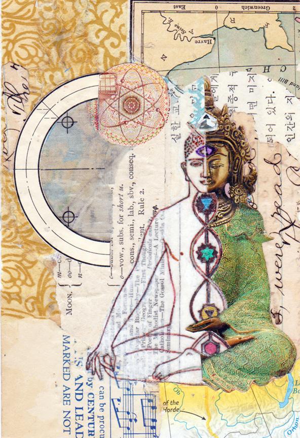 experimental collages meditation 2 hand cut collage sharmon davidson