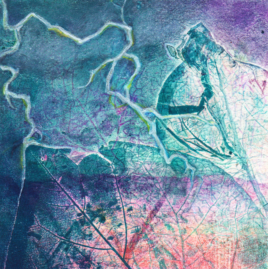 experimental collages storm front I monoprint with mixed media sharmon davidson